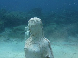 Green Bay, Protaras Cyprus, is an awesome dive site with year-round ideal conditions. There are a few sunken manmade statues ideal for underwater phtography.